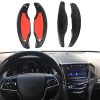 Car styling for Cadillac ATS for Cadillac ATS L for Cadillac CT6 Real Carbon Fiber Steering Wheel Shift Paddles Wheel Paddle