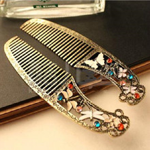 Special  Europe and America to do the old vintage jewelry wholesale butterfly dragonfly comb CJWD48