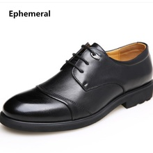 Для мужчин профессиональной офисные туфли с блестками из мягкой кожи Лидер продаж больше размер 38-48 Обувь без каблука Бизнес обувь Camel черный