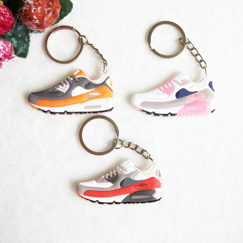 6b8676d1a82d Mini Silicone Airer 90 Keychain Key Chain Jordan Shoes Sneaker Car Key  Holder Woman Men Bag