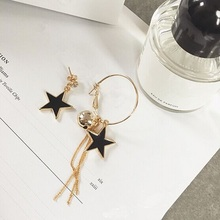 2017 Hot Stars Style Earrings For Women Gigt Asymmetric Pretty Star Dangle Earrings Tassel Drop Earrings  ED072