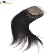 Silk Base Closure Straight Brazilian Remy Human Hair Closure Baby hair Middle and Free part Ross Pretty Brand Product