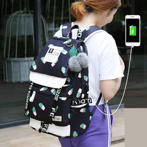 Image 2 - FengDong backpacks for children school bags for teenage girls feathers print schoolbag backpack child bag kids laptop backpack