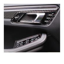 lsrtw2017 carbon fiber car door interior handle trims window control panel trims for porsche macan 2014 2015 2016 2017 2018 2019 lsrtw2017 car styling car window rainshield door visor for honda odyssey 2015 2016 2017 2018 window trims