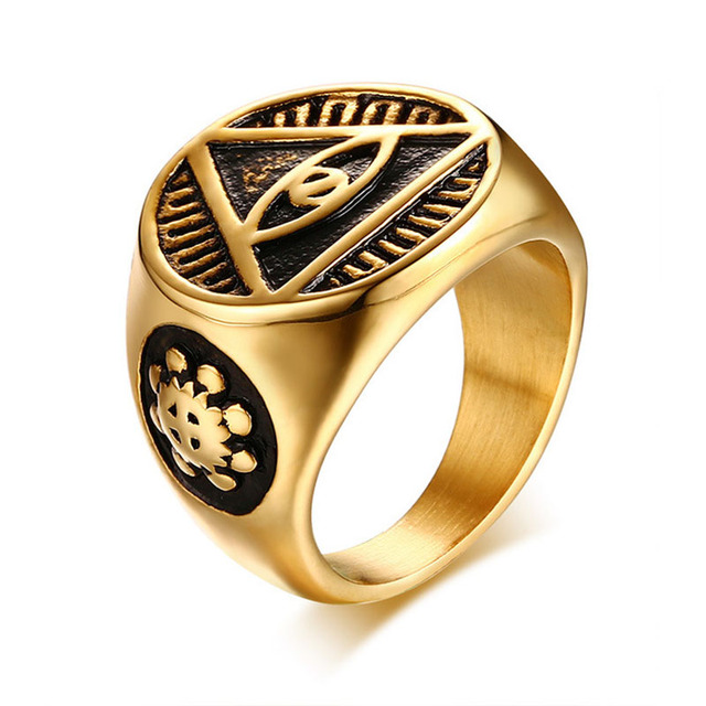 New Arrival Cool Signet Ring The One Ring All Seeing Eyes Stainless