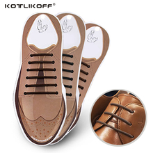 10pcs/Set No To Tie Shoelaces New Novelty Elastic Silicone Leather Shoe Laces For Men Women All Fit Strap Business Shoes