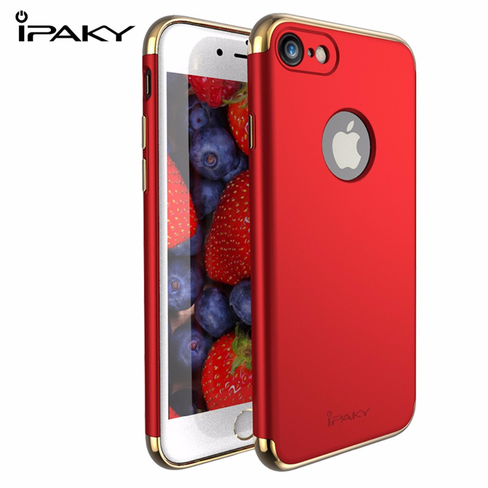 Red Case for iPhone 7 Plus Case iPaky Metal Frame Hard PC Back Case for iPhone7 7 Plus Cover