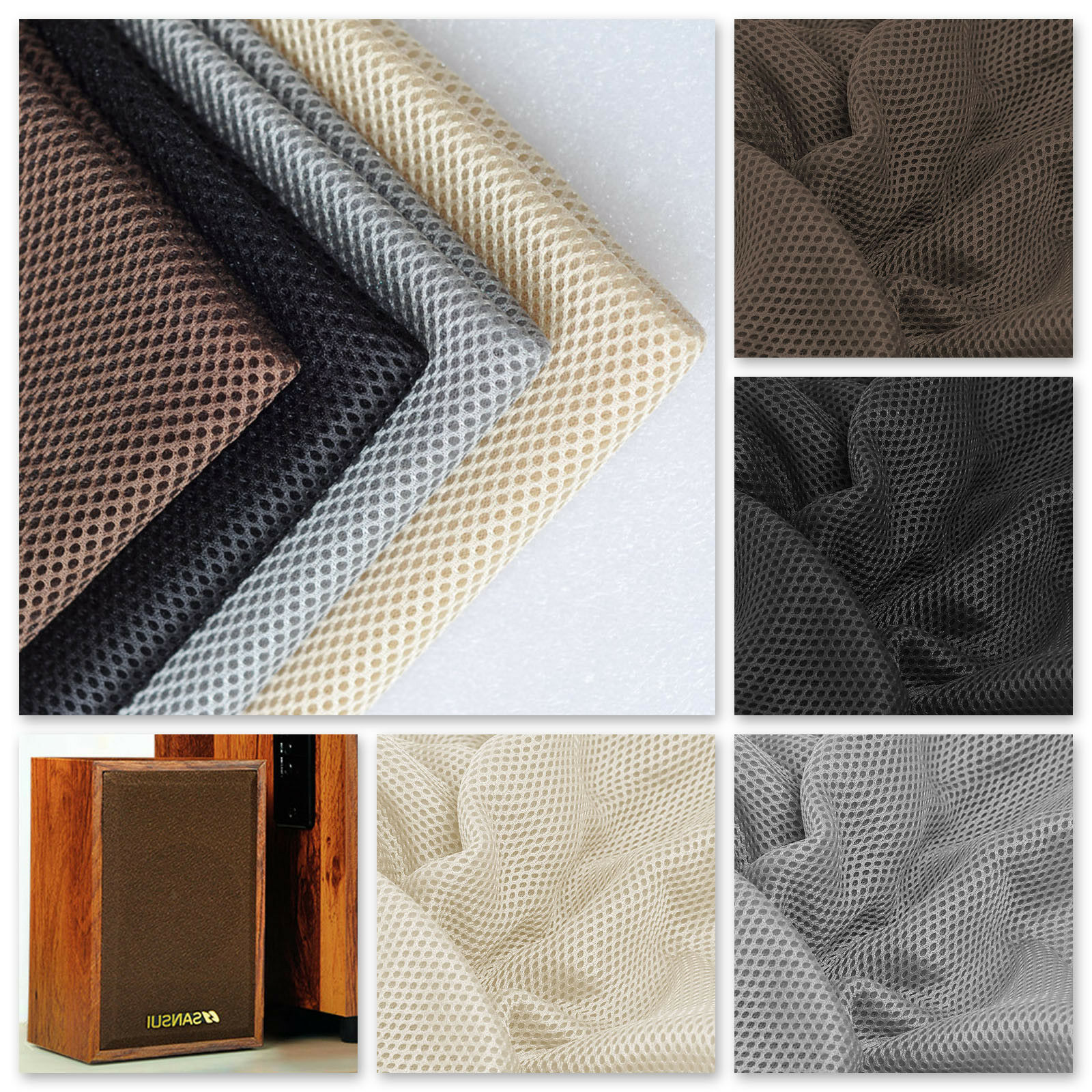 1.4mx0.5m Speaker Grill Cloth Stereo Gille Fabric Speaker Radio Mesh Cloth UK