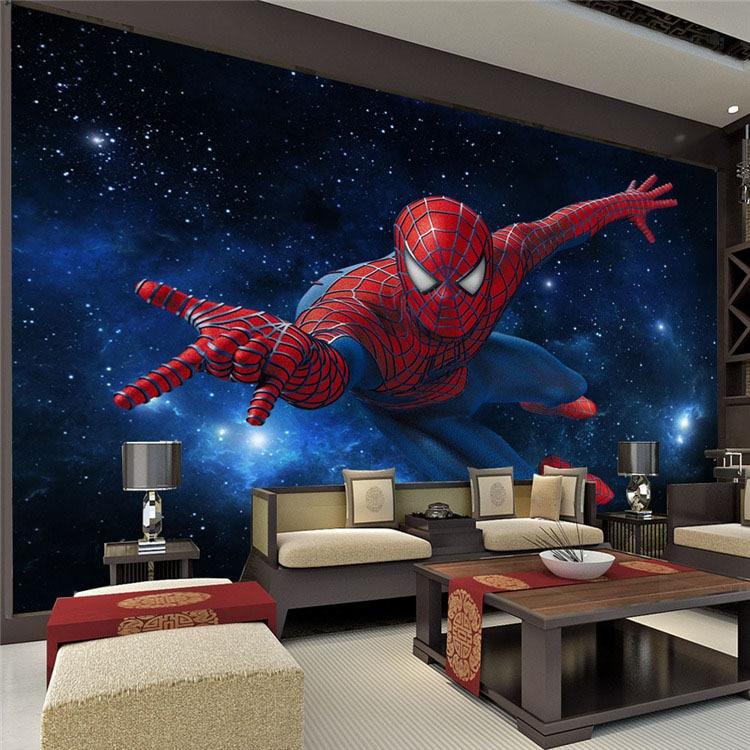 Custom children wallpaper, Spiderman mural for the children\'s room ...