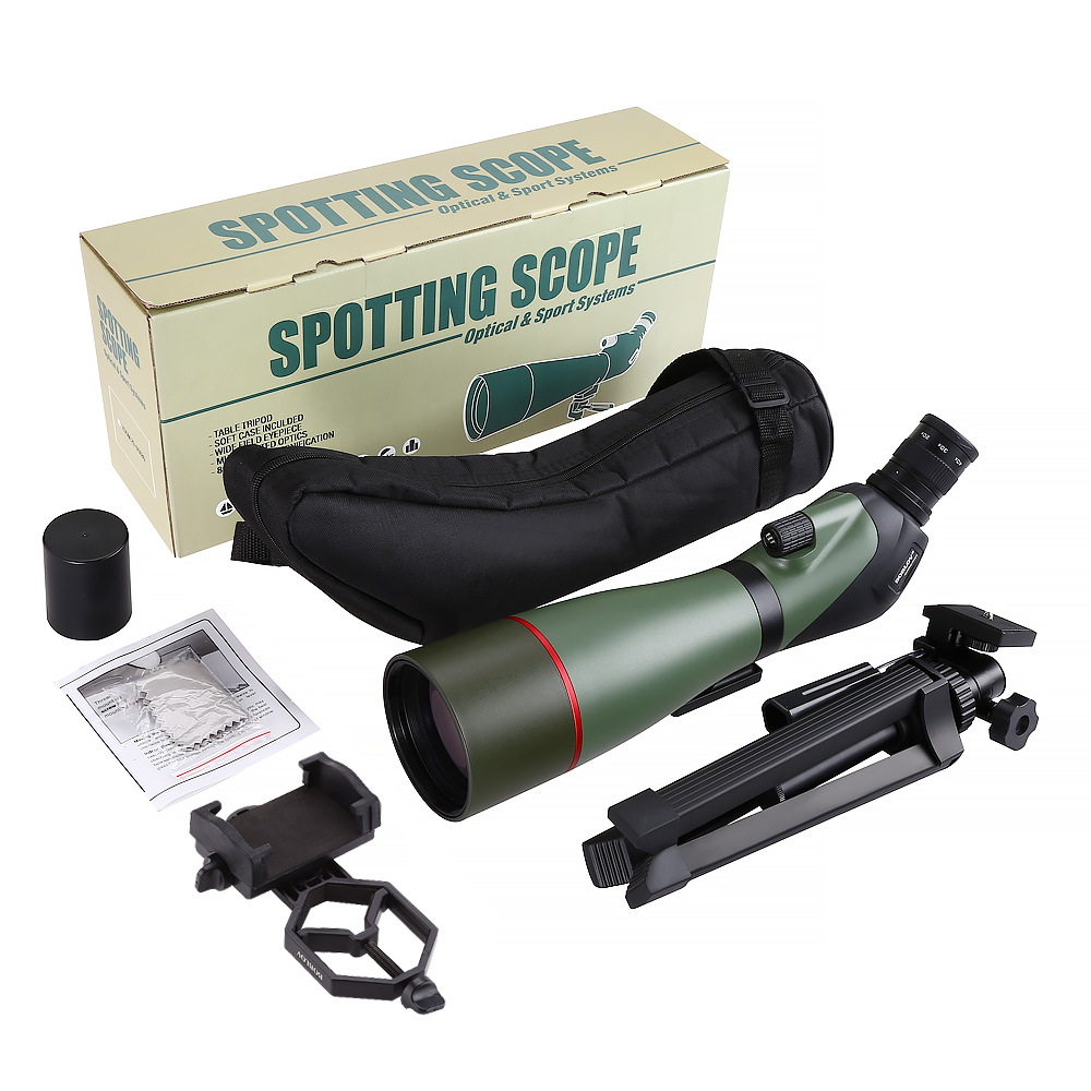 Image 5 - BOBLOV 20 60X80 Spotting Scope Waterproof Scope for Bird Watching Target Shooting Archery Range Outdoor Activities with Tripod-in Spotting Scopes from Sports & Entertainment
