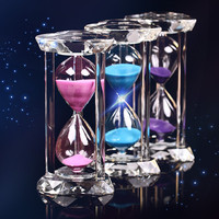 30 Minutes Heart Shaped K9 Crystal Hourglass 3 Colors Sand Sablier Timer Clock Crafts Valentine S