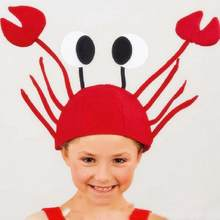 b4ae9bd3 Halloween funny crab hats for party Unique Cute Crab Hat Cap for Easter  Halloween Christmas Party Decoration Red #A40
