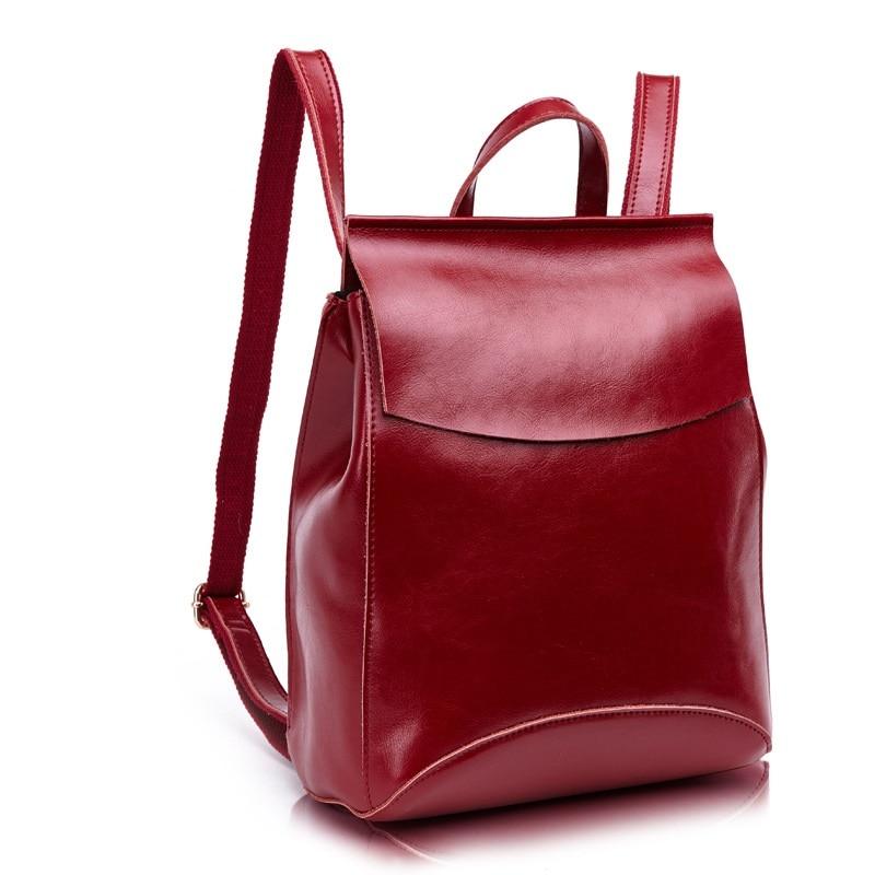 CHISPAULO 2017 Women soft Genuine Leather Backpack vintage School bag For Teenage Girls casual bags female shoulder Tassel C170