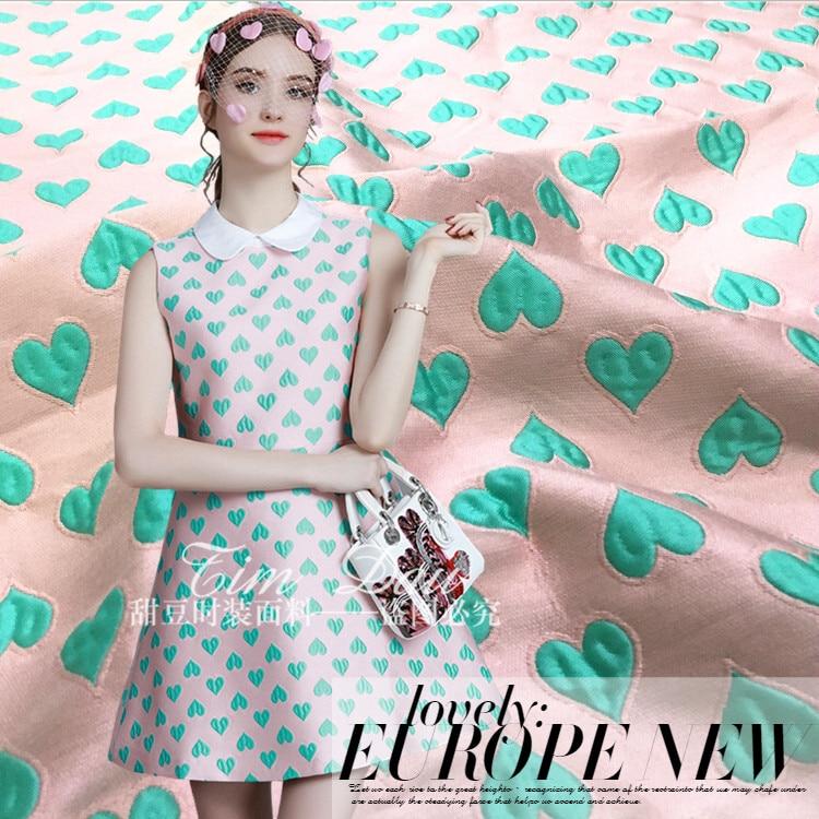 Žakárová tkanina růžová vysoce kvalitní žakárová tkanina Tinggong šaty sukně větrovka oblek velká módní tkanina jaro a podzim