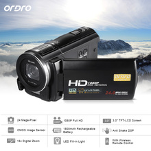 "Ordro HDV-F5 WIFI 1080P Full HD Digital Video Digital camera Camcorder 24MP 16X Zoom Recoding three.zero"" LCD Display distant management"