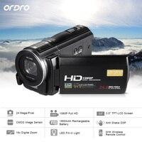 Ordro hdv f5 WI FI 1080 P Full HD цифрового видео Камера видеокамера 24mp 16X ZOOM перекодировка 3.0 ЖК дисплей Экран дистанционный пульт