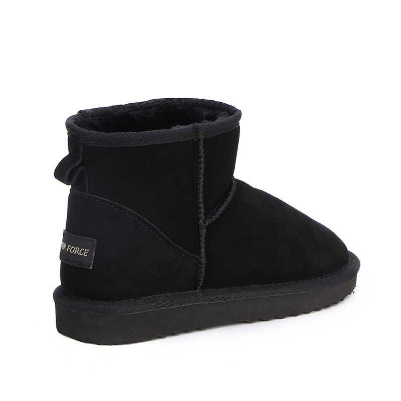 MBR kuvvet yüksek kaliteli avustralya klasik kadın kar botları 100% hakiki deri yarım çizmeler sıcak kış çizmeler kadın ayakkabı