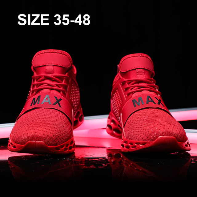 Baideng Cushion Sneakers for Men Max Mesh Running Shoes Man Light Sports Shoes for Male Zapatillas Hombre Deportiva Plus Size 48