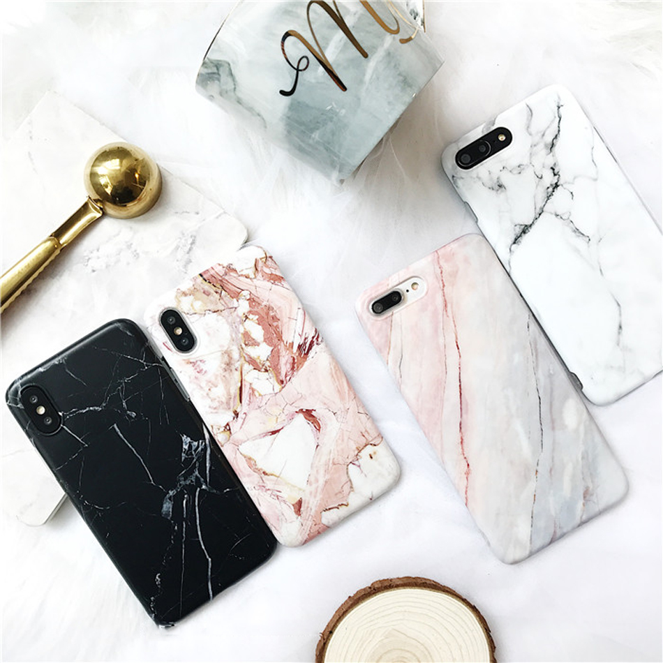 Moskado Shell Phone Case With Glossy Granite Marble Stone Cover For iPhone 11 Pro X XS Max XR 8