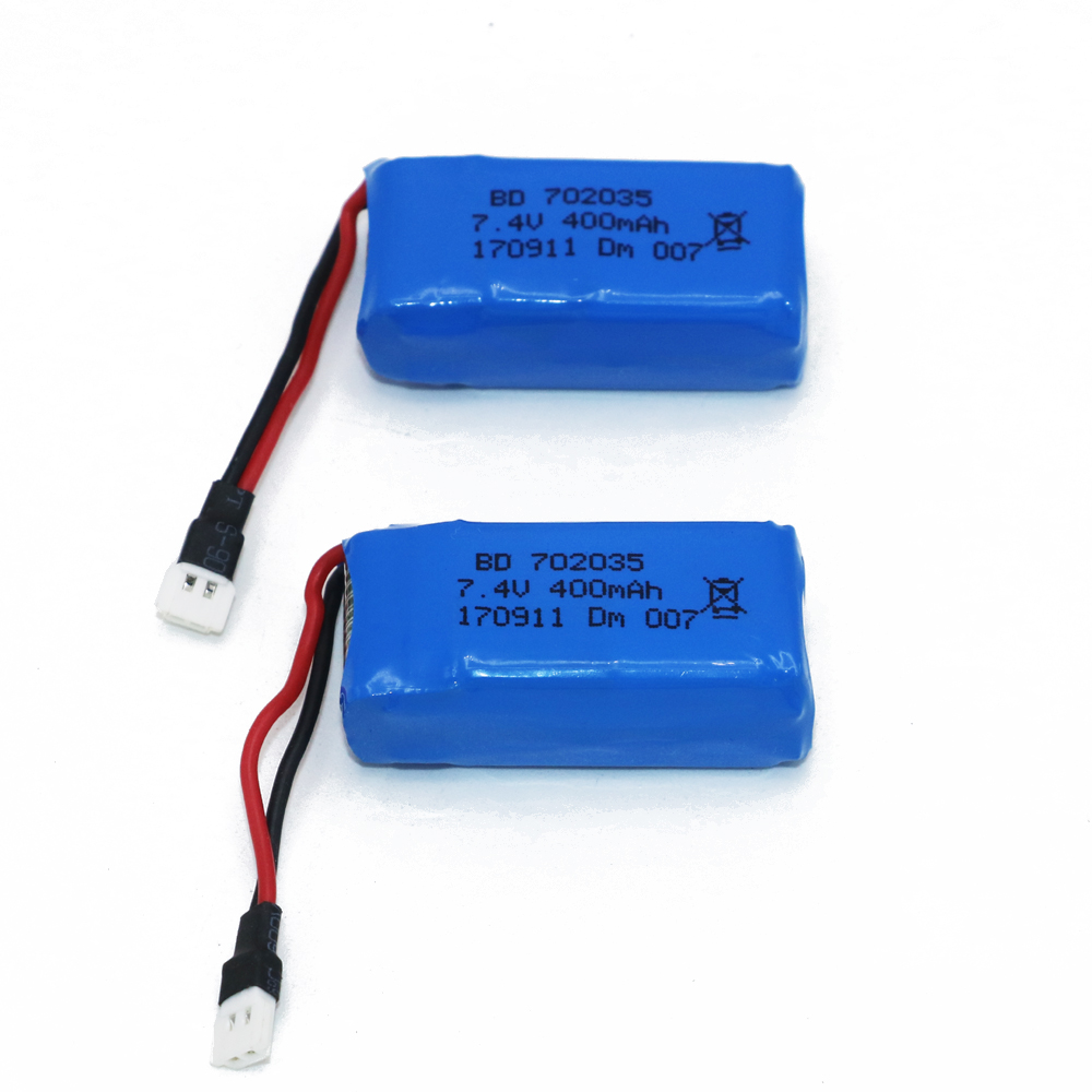 2pcs/lot 7.4V 400mAh Lithium LiPo Battery For RC DM007 Airplane Quadcopter Drone Helicopter Toy Parts 2 pcs led car headlight bulb hi lo beam cob headlights 72w 8000lm 6500k auto headlamp 12v 24v fog light work head lamp h4 h7 h11