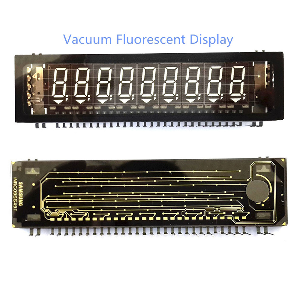 E&M New 9*8 Bit VFD Display Screen Module LCD Panel For CD HIFI AMP SCM Vacuum Fluorescent Graphical Lattice Nixie Tube Diy Kit