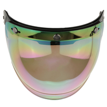 Stainless Steel Motorcycle 3 Snap Helmet Visor Shield Flip Up Down Lens for Harley Colorful Anti-UV Anti-Fog Anti-Scratch
