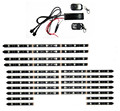 12V 18PCS RGB 5050SMD LED Car Motorcycle Glow Lights Flexible Neon Strips Kit Chopper Frame With Remote Controller Multi Color
