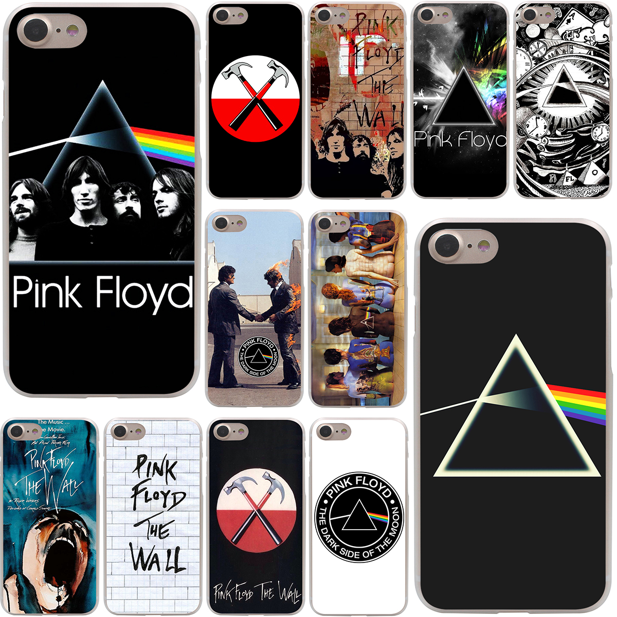 pink floyd the wall Hard Case Transparent for iPhone 7 7 Plus 6 6s Plus 5 5S SE 5C 4 4S