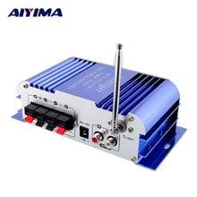 AIYIMA HY-3006 20 + 20 W Del Amplificador Del Coche Casa DC12V Pequeños Amplificadores FM Amplificador de Potencia de Radio FM Reproductor de MP3