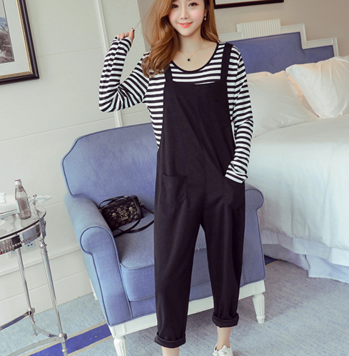 2017 autumn pregnancy clothes thick maternity jumpsuits jeans overalls for pregnant women fleece maternity clothing plus strap woman fashion slim solid knee distrressed maternity wear jeans premama pregnancy prop belly adjustable pants for women c73