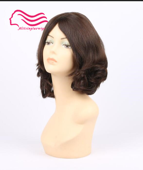 Cheveux vierges européens, cheveux non transformés perruque juive légère vague, perruque casher haut de soie meilleurs Sheitels livraison gratuite