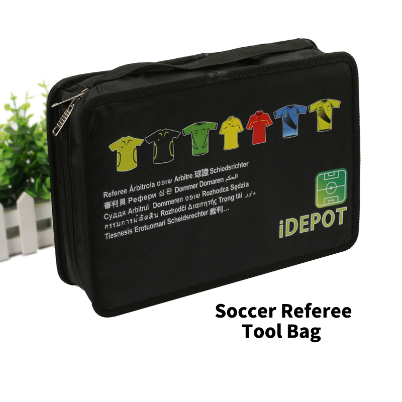 Portable Referee Football Bag Soccer Coach Whistle Cards Coin Storage Bag Waterproof Football Referee Equipment Sport Match Bags