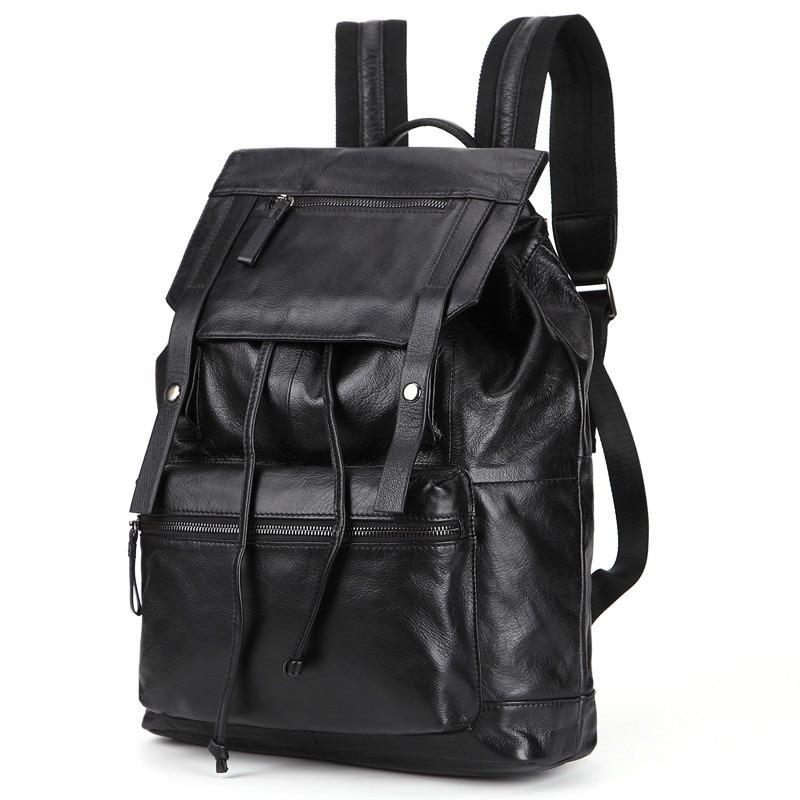 2018 New Travel Luggage Genuine Leather Men Backpack String Wear-resisting Man Concise Fashion Pack Student Bag PR008134 19 70 genuine wear повседневные брюки