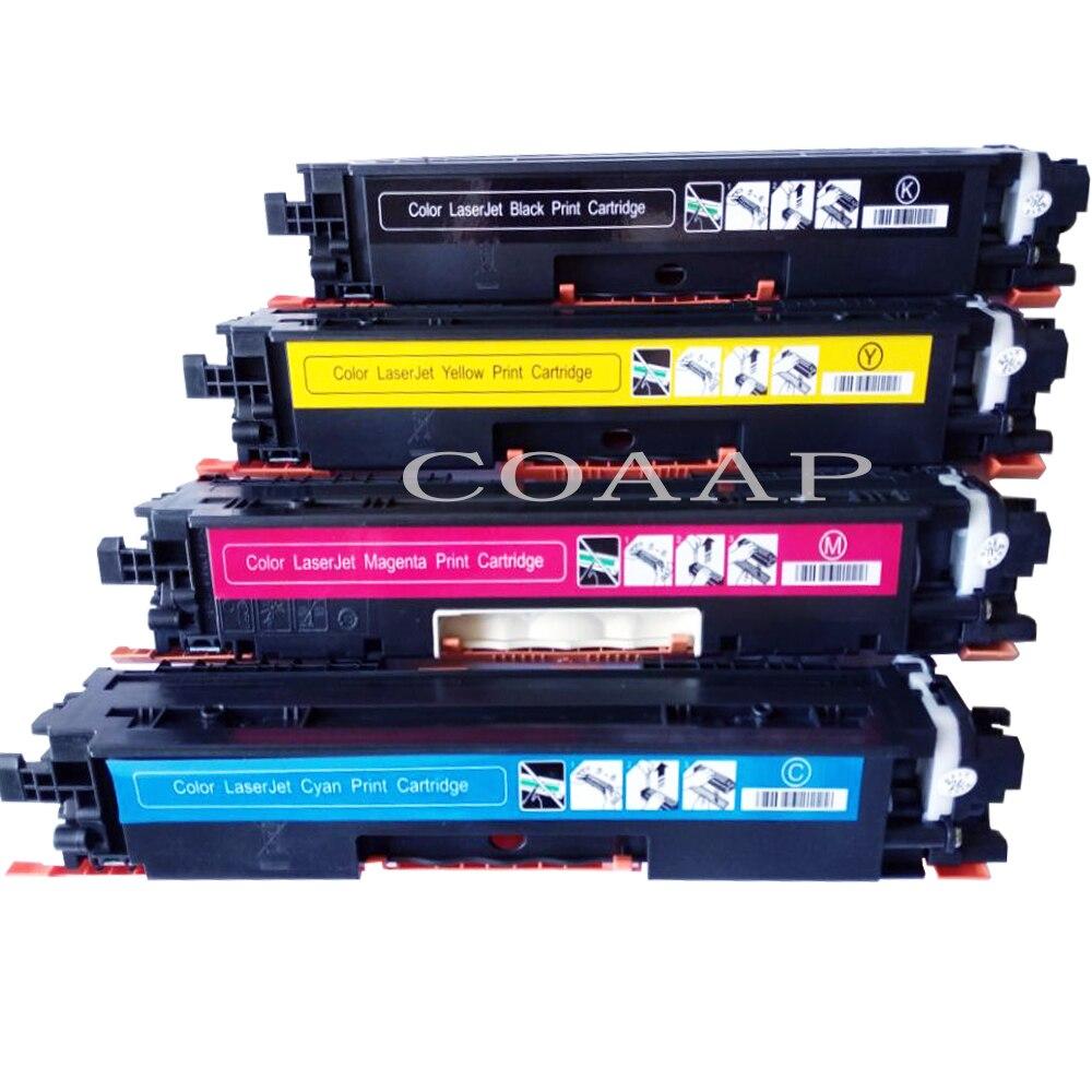 566e246d99de Cartuchos de tóner compatibles CE310A/CF350A/CF351A/CF352A/CF353A para HP  Color LaserJet Pro MFP M176n M177fw ¡CP1021 CP1022