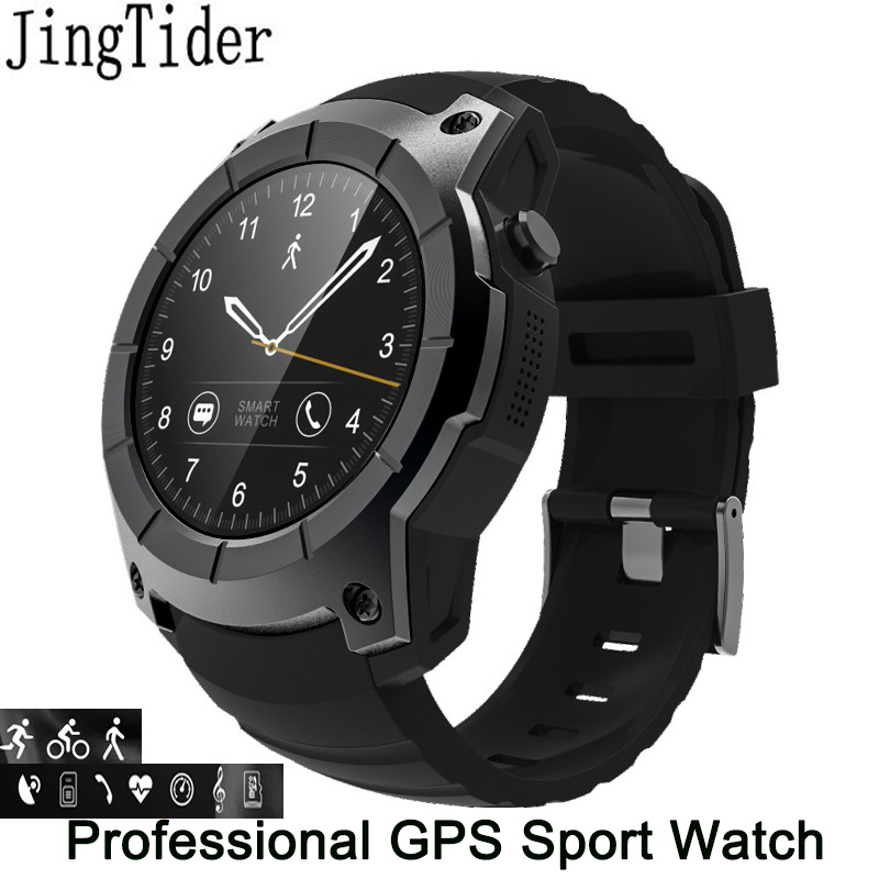 JingTider S958 GPS Smart Watch Professional Sport Watch Heart Rate Monitor Barometer Color Display 2G Sim Card For Android IOS gs8 1 3 inch bluetooth smart watch sport wristwatch with gps heart rate monitor pedometer support sim card for ios android phone