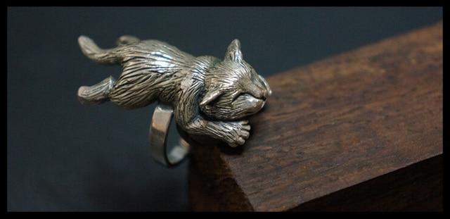 Купить оптовая продажа регулируемое кольцо в стиле ретро с котом модные картинки