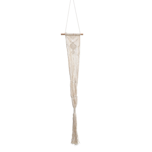 40inch Vintage Macrame Plants Hanger Basket Hook Hanging Flower Display Flower Pot Holder String Hanging Rope for Balcony Decor