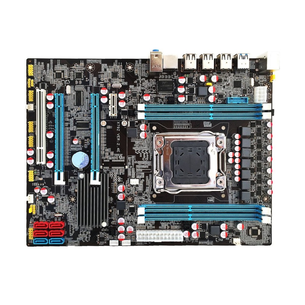 X79 E5 carte mère d'or V2.49 LGA2011 ATX USB3.0 SATA3 PCI-E NVME M.2 SSD soutien REG ECC mémoire et Xeon E5 processeur