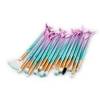 Professional 15PCS Mermaid Makeup Brushes Set Eyebrow Eyeliner Blush Blending Contour Foundation Cosmetic Beauty Makeup Brushes