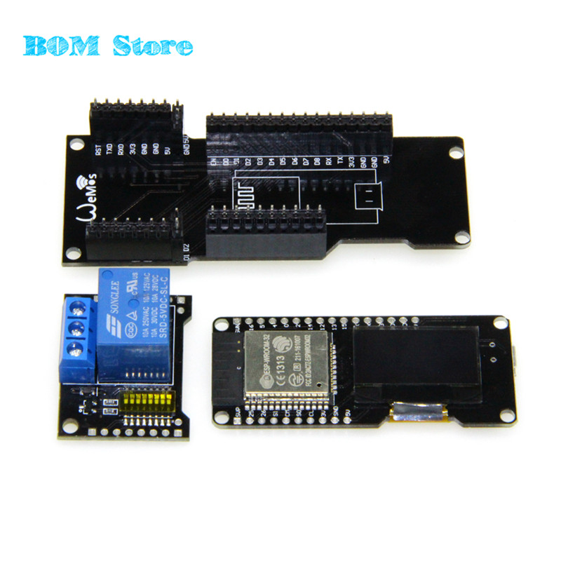 X1 shield + Lolin ESP32 OLED wemos&ESP32 ESP8266 WiFi Modules for X-Relay 5V Relay Shield Version 2 free shipping