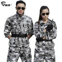 Militär Uniform Schnee Camouflage Armee Kampf Jacke Cargo Pant Uniforme Militar Taktische CS Softair Mens Arbeits Kleidung Weibliche