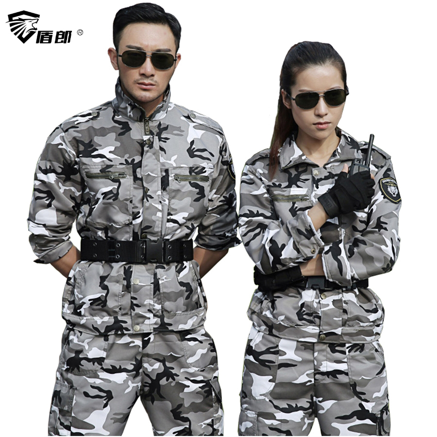 Military Uniform Snow Camouflage Army Combat Jacket Cargo Pant Uniforme Militar Tactical CS Softair Mens Working Clothes Female(China)
