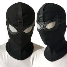 Spider-Man daleko od domu maska Cosplay Superhero Spiderman Stealth garnitur maski kask Peter Parker kostium na halloween rekwizyty nowy tanie tanio Unisex Dla dorosłych cotter+pu Kostiumy