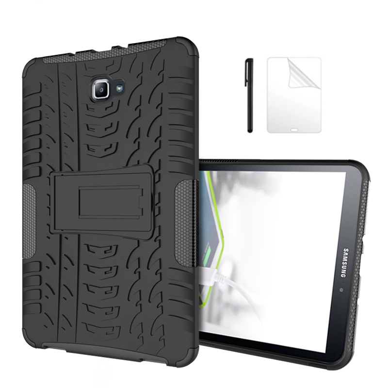 Silicon TPU+PC shell Shockproof Armor case For Samsung Galaxy Tab A A6 10.1 T580 <font><b>T585</b></font> T580N T585N 10.1 inch Tablet case+Film+Pen image