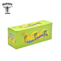 20Rolls/lot A Box Lemon Flavored Hookah Charcoal Shisha Hookah Charcoal Quick-lighting Burn Even Lasting Long Flavored Charcoal