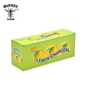 20Rolls/lot A Box Lemon Flavored Hookah Charcoal Shisha Hookah Charcoal Quick-lighting Burn Even Lasting Long Flavored Charcoal