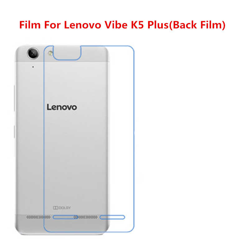 1/2/5/10 Pcs Ultra Thin Clear HD LCD Screen Guard Protector Film With Cleaning Cloth Film For Lenovo Vibe K5 Plus(Back Film).