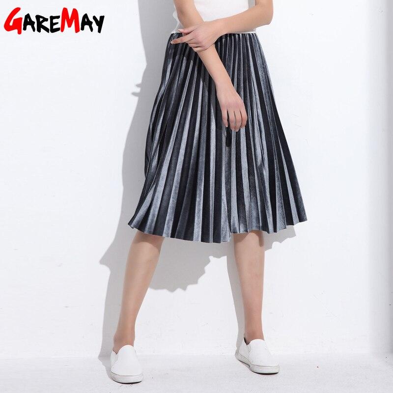 여성 스커트 주름 Faldas Largas Jupe 팜므 긴 따뜻한 - 여성 의류 - 사진 4