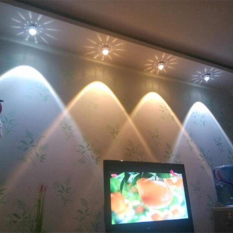 3W Crystal Led Ceiling Lights Restaurant Ktv Aisle Living