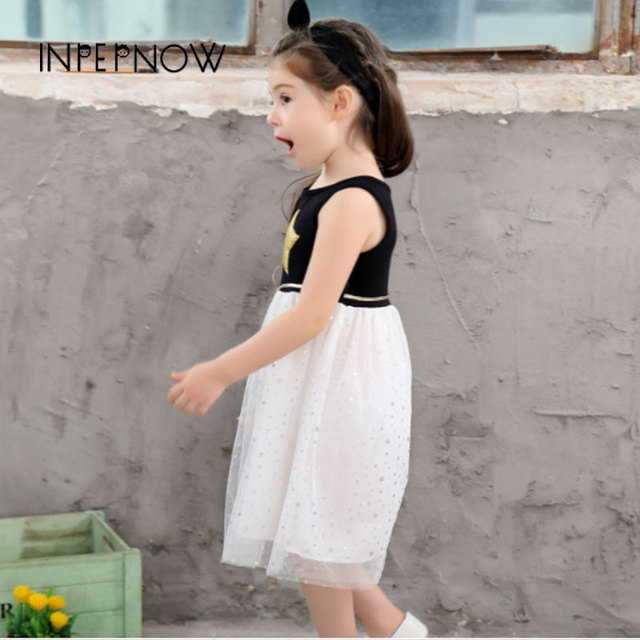 INPEPNOW Little Girls Dress Pentagram Princess Dress Brand Girls Clothes Children Clothing Girls Dresses robe fille LYQ-CZX55